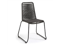 LivingStyles Balliol Stackable Indoor / Outdoor Dining Chair, Charcoal