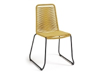LivingStyles Balliol Stackable Indoor / Outdoor Dining Chair, Yellow
