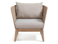 LivingStyles Bourne Rope & Acacia Timber Armchair