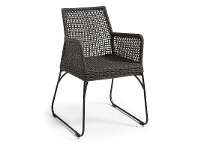 LivingStyles Burnett Indoor/Outdoor Dining Armchairs, Charcoal