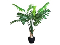 LivingStyles Set of 2 Artificial Philodendron in Pot