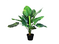 LivingStyles Set of 2 Artifical Pothos in Pots
