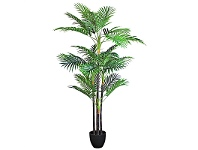 LivingStyles Set of 2 Artificial Palm Cane in Pot