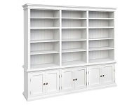 LivingStyles Halifax Solid Mahogany Timber Triple Hutch Bookcase
