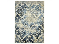 LivingStyles Calypso Gloria Stunning Egyptian Made Modern Rug, 290x200cm, Blue/Ivory
