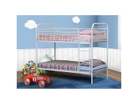 LivingStyles Camden Metal Bunk Bed White - Single
