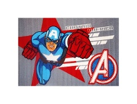 LivingStyles Captain America Egyptian Made 100x150cm Kids Rug