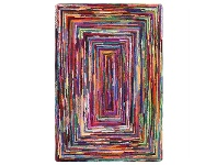 LivingStyles Chinidi Carnivale Reflection Hand Tufted Cotton Rag Rug, 200x300cm