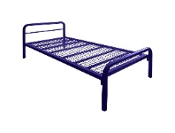 LivingStyles Tubeco Budget Australian Made Commercial Grade Metal Bed, King Single, Space Blue