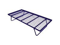 LivingStyles Tubeco Australian Made Commercial Grade Metal Pop-up Trundle Bed, King Single, Space Blue