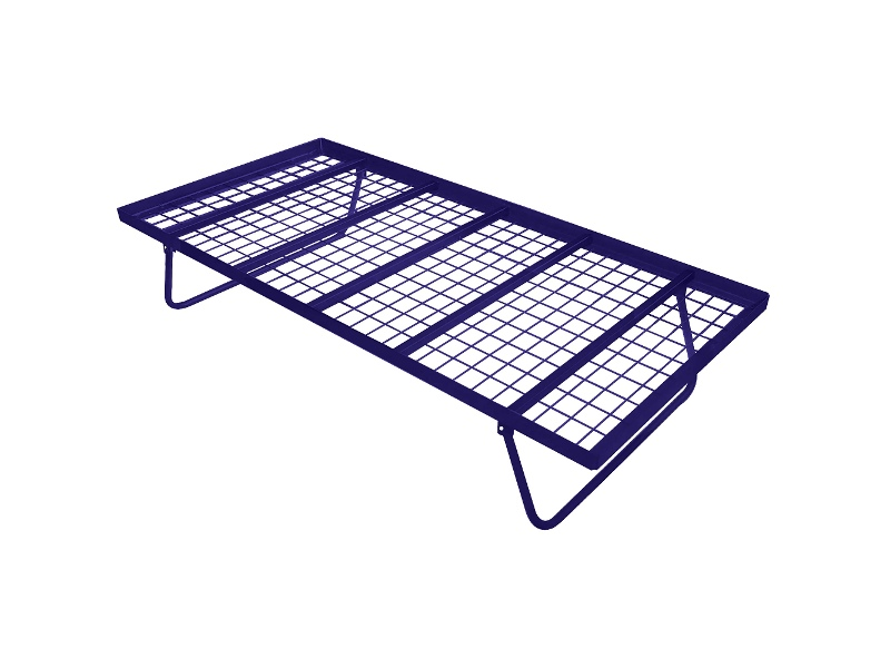 Tubeco Australian Made Commercial Grade Metal Pop-up Trundle Bed, Single, Space Blue