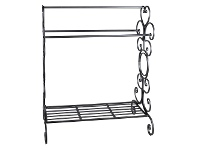 LivingStyles Longreach Metal Towel Rack, Black