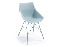 LivingStyles Capela Dining Armchair, Powder Blue