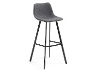 LivingStyles Orsted PU Leather Counter Stool, Graphite