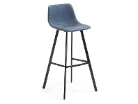 LivingStyles Orsted PU Leather Counter Stool, Blue