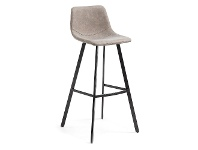 LivingStyles Orsted PU Leather Counter Stool, Taupe