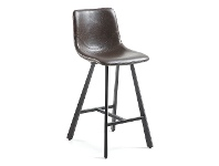 LivingStyles Kilburnie PU Leather Counter Stool, Chocolate