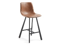 LivingStyles Kilburnie PU Leather Counter Stool, Tan