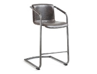 LivingStyles Mooney PU Leather Swing Leg Counter Stool, Chocolate