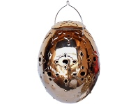 LivingStyles Norre Set of 4 Ceramic Hanging Candle Holders, Extra Small, Gold