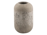 LivingStyles Palmira Cement Tall Pod Vase, Large, Dirty White