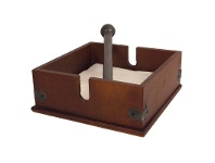 LivingStyles Plywood Napkin Holder with Metal Bar