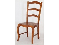 LivingStyles Mervent Solid White Cedar Timber Dining Chair - Light Pecan Stain