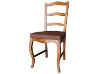 LivingStyles Mervent Solid White Cedar Timber Dining Chair with Cushion - Light Pecan Stain