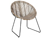 LivingStyles Beau Rattan and Iron Leisure Chair