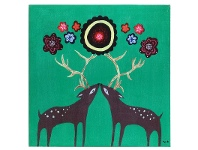 LivingStyles Safari Canvas Wall Plaque - Deer