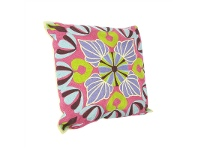 LivingStyles Suzani Embroidered Magneta Cotton Pillow - Style B