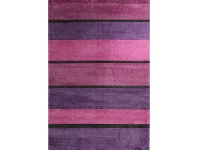 LivingStyles City Contempo Bands Modern Rug, 220x150cm, Berry