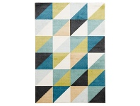 LivingStyles City Diagonal Modern Rug, 320x230cm, Turquoise / Green