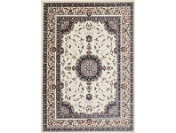 LivingStyles Gold Feray Turkish Made Oriental Rug, 120x170cm, Cream