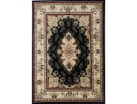 LivingStyles Gold Sidika Turkish Made Oriental Rug, 240x330cm, Black