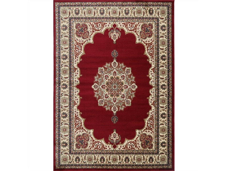 Gold Feray Turkish Made Oriental Rug, 80x150cm, Red