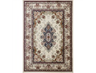 LivingStyles Gold Sidika Turkish Made Oriental Rug, 80x150cm, Cream