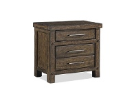 LivingStyles Montreal Rustic Recycled Pine Timber Bedside Table
