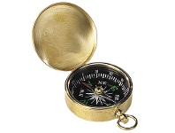 LivingStyles Charlotte Solid Brass Pocket Compass
