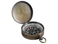 LivingStyles Charlotte Solid Bronze Pocket Compass