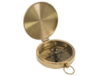 LivingStyles Davis Solid Brass Pocket Compass