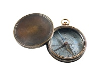 LivingStyles Victorian Trails Solid Brass Compass