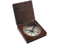 LivingStyles Lewis and Clark Solid Rosewood Timber Compass