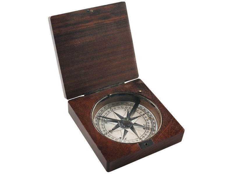 Lewis and Clark Solid Rosewood Timber Compass