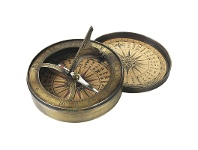 LivingStyles Solid Brass Replica 18th Century Sundial and Comapss