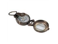 LivingStyles WWII Solid Bronze Compass