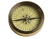 LivingStyles Polaris Solid Brass Compass