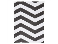 LivingStyles Coastal Chevron 180x270cm Indoor/Outdoor Rug - Black