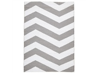 LivingStyles Coastal Chevron 180x270cm Indoor/Outdoor Rug - Grey