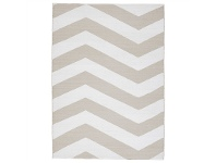 LivingStyles Coastal Chevron 150x220cm Indoor/Outdoor Rug - Taupe